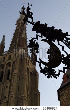 Bruges city view