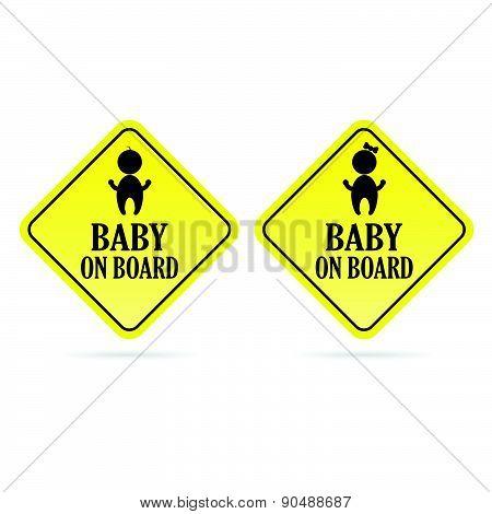 Baby On Board Kids Vector