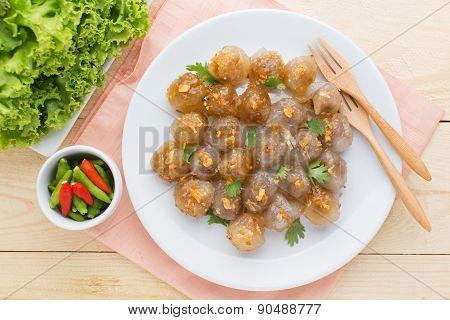 Dumpling Tapioca Pork