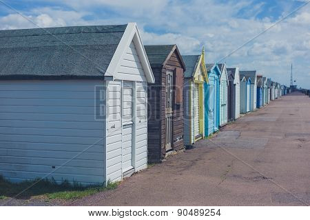Colorful Beach Huts By The Seaside