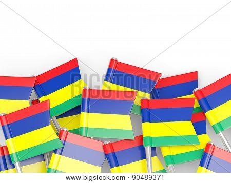 Flag Pin Of Mauritius