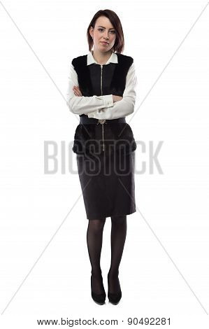 Photo of woman with arms crossed
