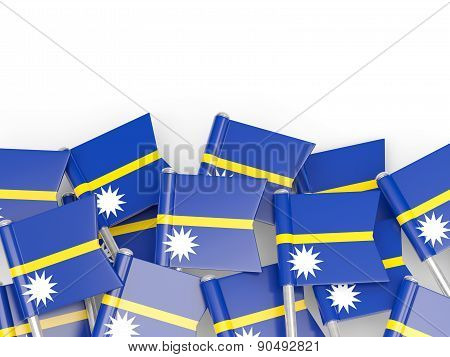 Flag Pin Of Nauru