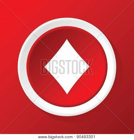 Diamonds icon on red