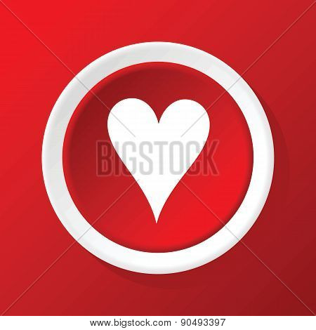 Hearts icon on red