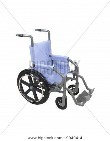 Wheelchair With Blue Seat