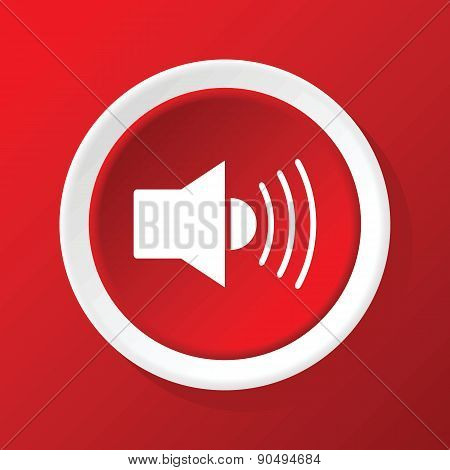 Loudspeaker icon on red