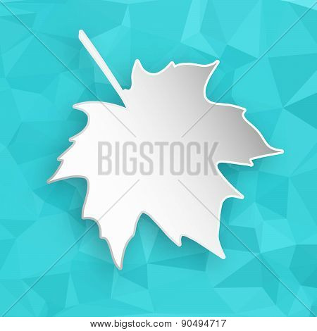 Paper Leaf Over Geometric Background