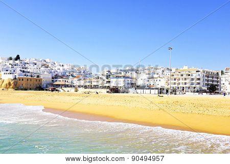 The village Albufeira in the Algarve Portugal