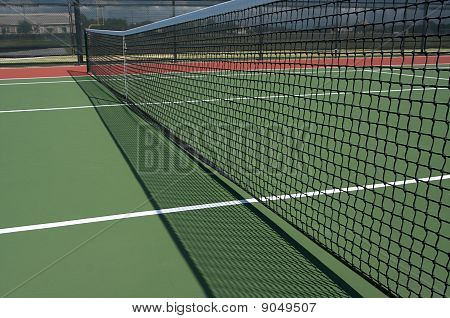 Tennis Court Net And Shadow