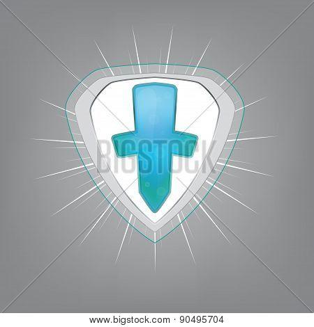 Medical shield. Vector illustration