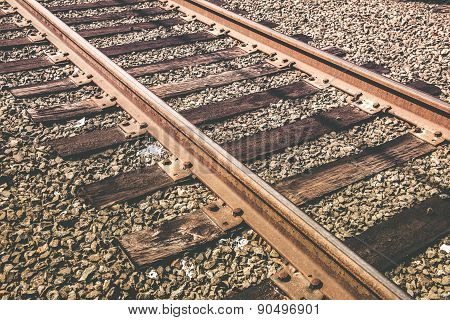 Railroad Track Closeup