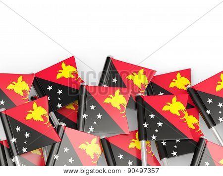 Flag Pin Of Papua New Guinea