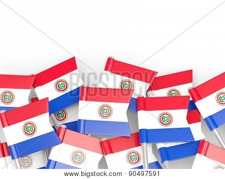 Flag Pin Of Paraguay