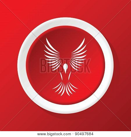 Bird icon on red