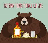 picture of vodka  - Russian national cuisine - JPG