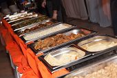 foto of banquet  - Banquet meal trays served on tables  - JPG