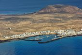 pic of canary-islands  - view of the part of Graciosa Island from Mirador del Rio Lanzarote Island Canary Islands Spain - JPG