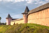 pic of paysage  - Walls and towers of monastery Saint Euthymius in Suzdal Russia - JPG
