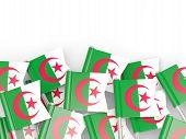 stock photo of algeria  - Flag pin of algeria isolated on white - JPG