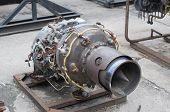 picture of afterburner  - Retired old jet engine  - JPG