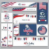 image of usa flag  - Social media and marketing headers - JPG