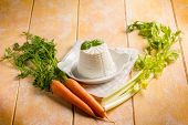 foto of celery  - ricotta with carrots and celery - JPG