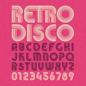 pic of alphabet  - Retro disco style alphabet and numbers - JPG