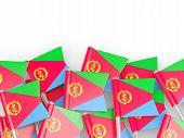 image of eritrea  - Flag pin of eritrea isolated on white - JPG
