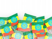 picture of ethiopia  - Flag pin of ethiopia isolated on white - JPG