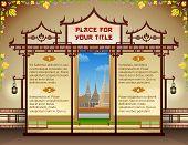 pic of thai massage  - Oriental template design in Thailand style - JPG