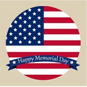 stock photo of memorial  - Colored background with text and elements for memorial day - JPG