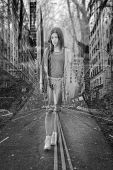 picture of skinny  - Skinny girl on the street - JPG