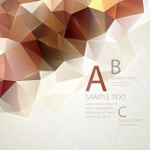stock photo of triangular pyramids  - Low poly triangular background - JPG