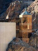 picture of dam  - Hoover Dam on the Nevada Arizona Border  - JPG