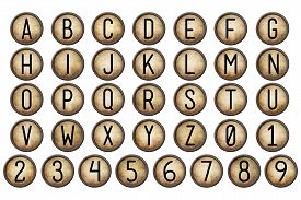 picture of backspace  - backspace typewriter key alphabet collection isolated on white - JPG