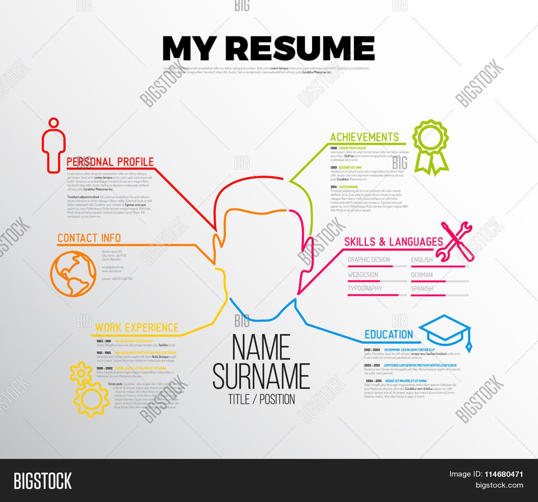 vector original minimalist cv resume template creative version