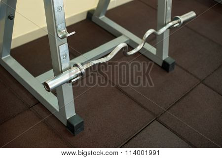 Cambered bench press bar.