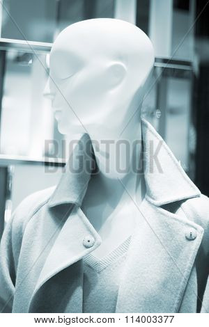 Store Clothes Dummy In Womens Clothing Shop