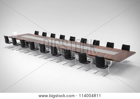 3D Isolated Office Background