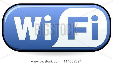 Wifi Symbol Blue