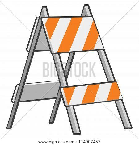 Under Construction Roadblock