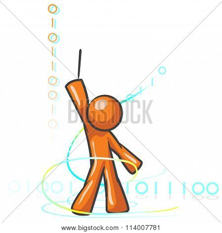 Design Mascot Binary Composition