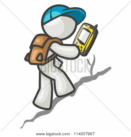 Hiker With Gps