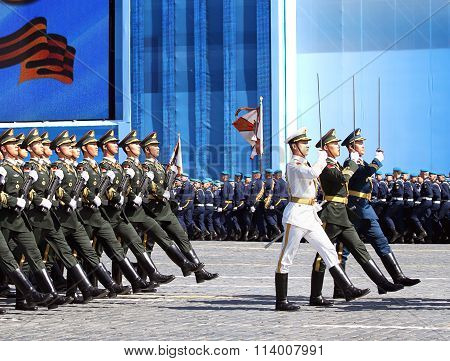Ceremonial March Of The Chinese Troops