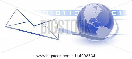 Email, Electronic Communications World Wide Web Internet Concept