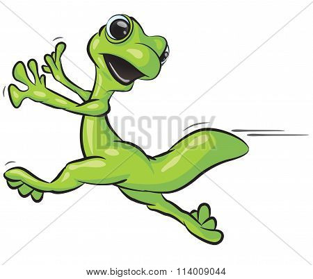 Gecko Running Scared