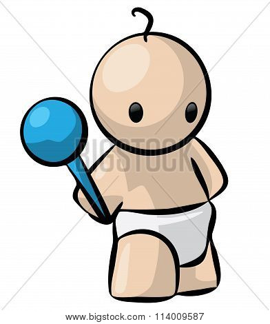 Cute Baby Holding Rattle