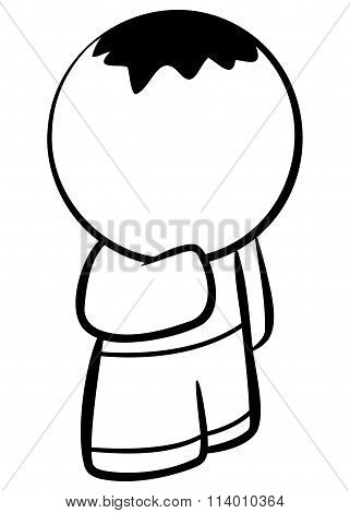 Line Drawing Of Little Boy