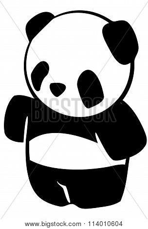 Panda Bear Mascot Vector Image.